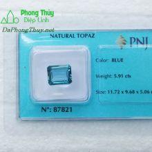 Viên đá topaz xanh hoàng ngọc PAZ5.91