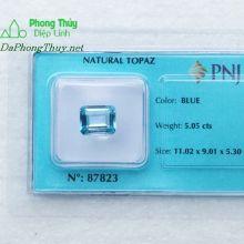 Viên đá topaz xanh hoàng ngọc PAZ5.05