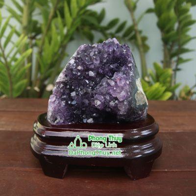 Khối đá phong thủy thạch anh tím T10A