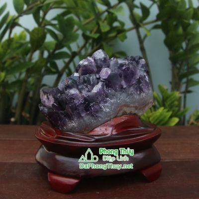 Khối đá phong thủy thạch anh tím T14a