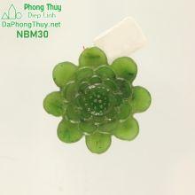 Mặt ngọc bích hoa sen NBM30