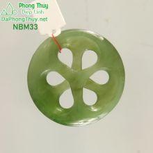 Mặt ngọc bích nephrite chữ vạn NBM33