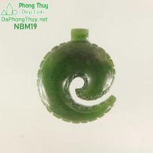 Mặt ngọc bích nephrite jade NBM19