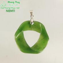 Mặt ngọc bích vòng xoắn may mắn NBM11