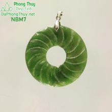 Mặt ngọc bích vòng xoắn may mắn NBM7