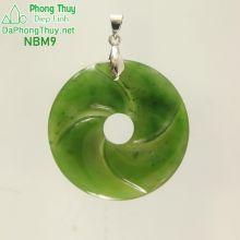 Mặt ngọc bích vòng xoắn may mắn NBM9