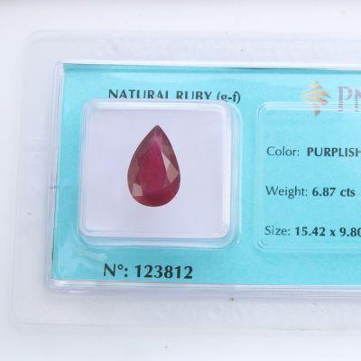 Viên đá quý phong thủy tự nhiên Ruby RBG6.87