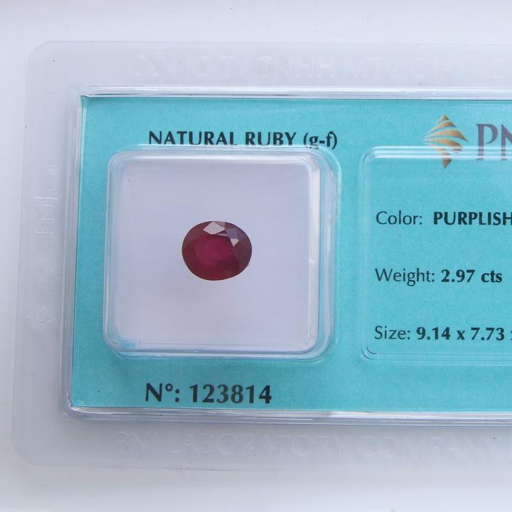 Viên đá quý phong thủy tự nhiên Ruby RBG2.97a