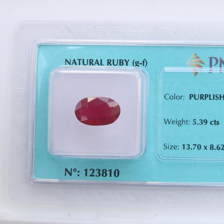 Viên đá quý phong thủy tự nhiên Ruby RBG5.39