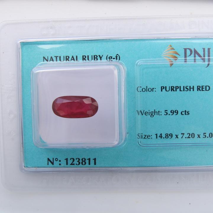 Viên đá quý phong thủy tự nhiên Ruby RBG5.99
