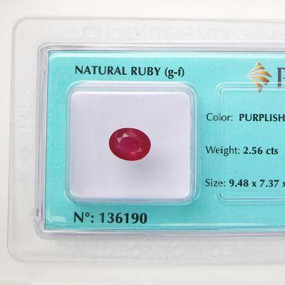 Viên đá quý phong thủy tự nhiên Ruby RBG2.56