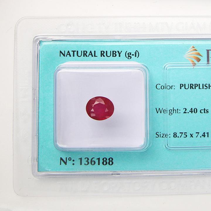 Viên đá quý phong thủy tự nhiên Ruby RBG2.40