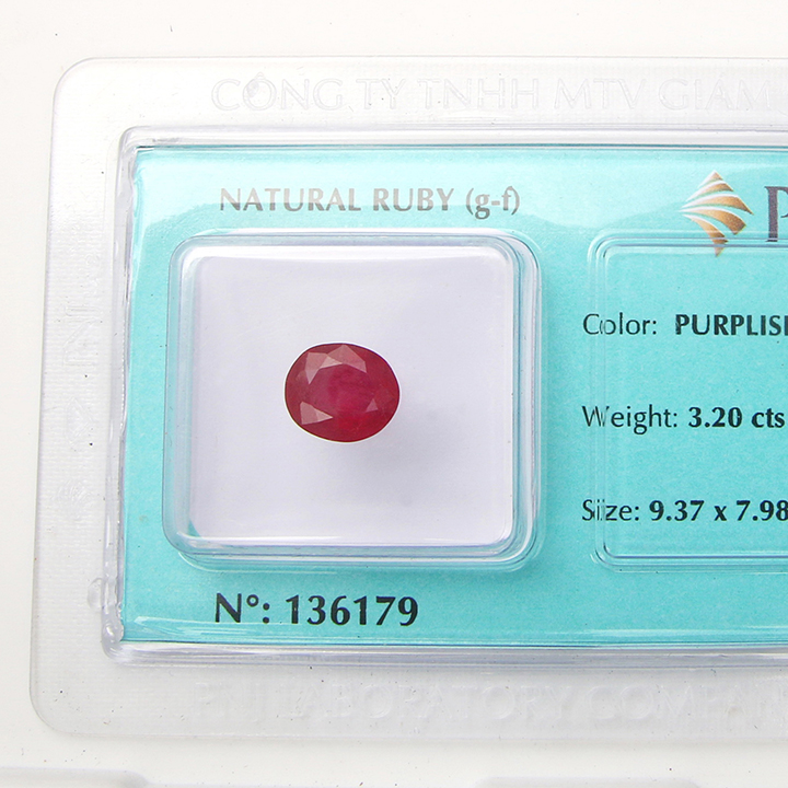 Viên đá quý phong thủy tự nhiên Ruby RBG3.2