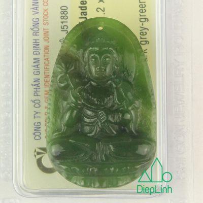 Phật bản mệnh đại thế chí bồ tát đá ngọc bích J51880