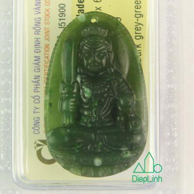 Phật bản mệnh văn thù bồ tát đá ngọc bích J51900