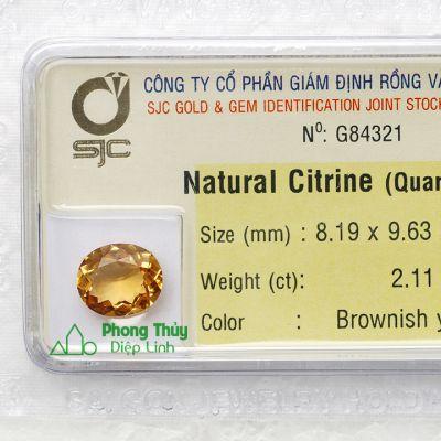Viên đá kiểm định thạch anh vàng G84321