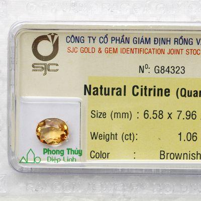 Viên đá kiểm định thạch anh vàng G84323
