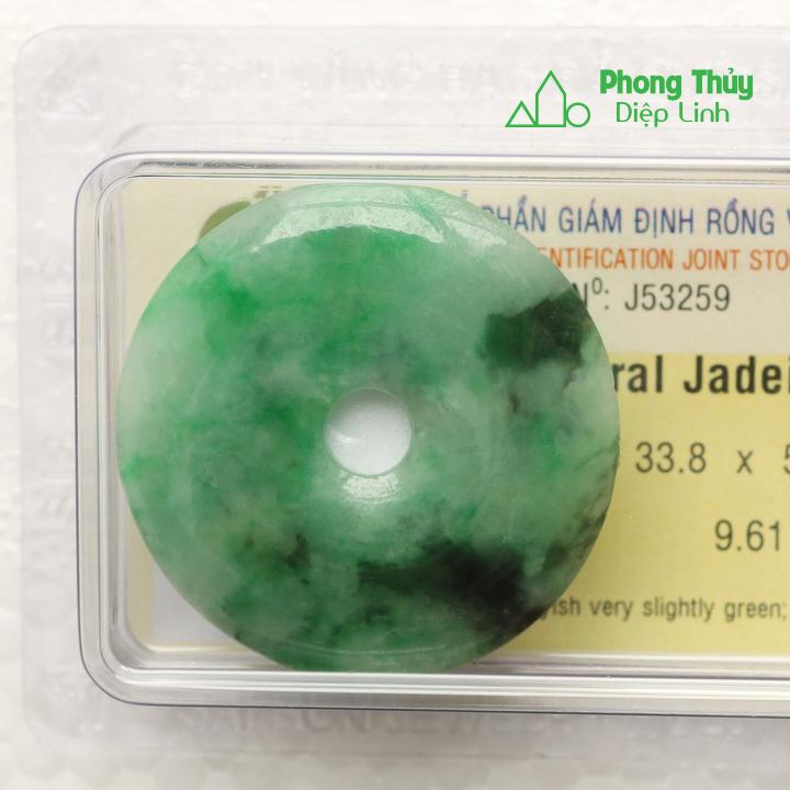 Đồng điếu ngọc bội cẩm thạch J53259