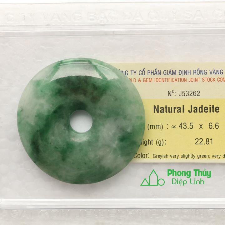 Ngọc bội cẩm thạch ngọc phỉ thúy J53262