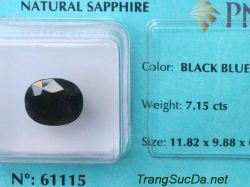 Da sapphire xanh den